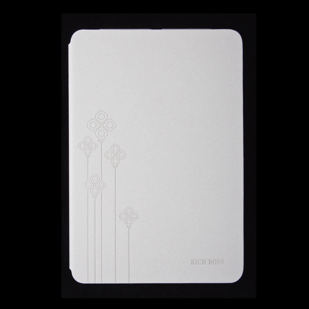 Флип кейс Rich Boss для Ipad mini / mini 2 раскладной Flowers (кожа, цвет: белый)