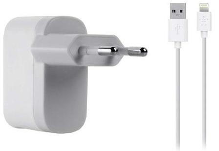 Сетевое зарядное Belkin Charger Lightning для iPad / iPhone / iPod (2,1 А) (f8j100vf04-wht) + кабель 1.2 метра