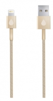 Кабель Juicies+ 8pin Apple Lightning MFi золотистый