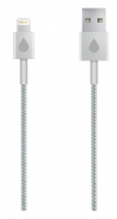 Кабель Juicies+ 8pin Apple Lightning MFi серебристый