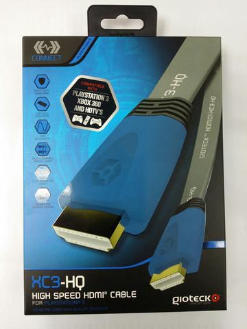 Кабель HDMI Gioteck XC3-HQ  высокоскоростной плоский, Blue 1.8 м