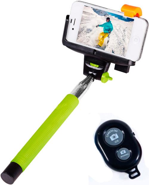 Монопод ручной 24-100 см model: Z 07-4A + пульт Bluetooth кнопкой для фото