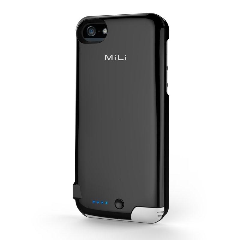 Чехол-аккумулятор MiLi Power Spring 5 2200 mAh черный (HI-C25) для iPhone 5 / 5S
