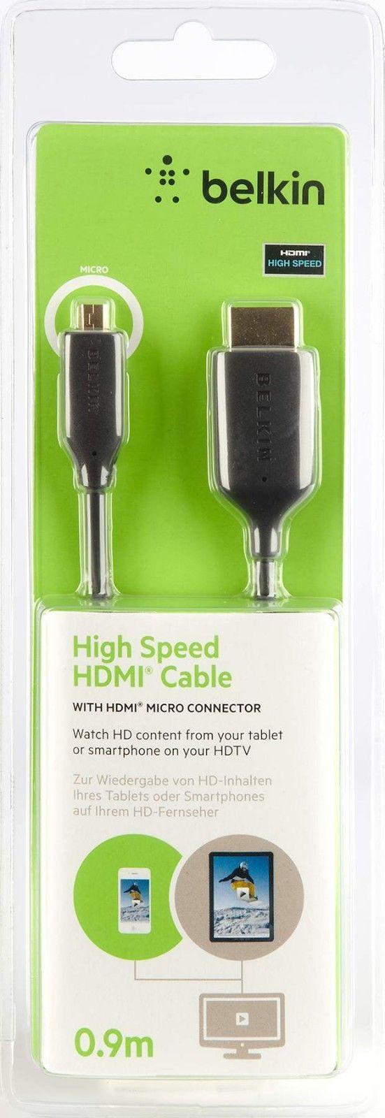 Кабель Belkin AV 10098 bf HDMI - micro HDMI 0,9m