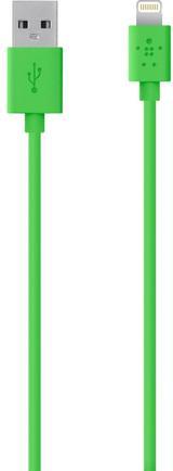 Кабель Belkin F8J023BT04GRN Mixit Lightning - USB 1.2 м кабель, зеленый