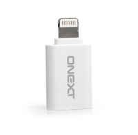 Переходник microUSB - Lightning (8-pin) для Apple iPhone/iPad/iPod, ONEXT White