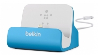 Док-станция Belkin Charge + Sync Dock для iPhone 5/5C/5S/6/6+/6s/6s+/SE, Blue F8J045btBLU