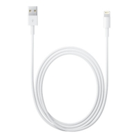Кабель Apple USB Lightning MD818ZM/A MQUE2ZM/A (8-pin)  белый (1м)