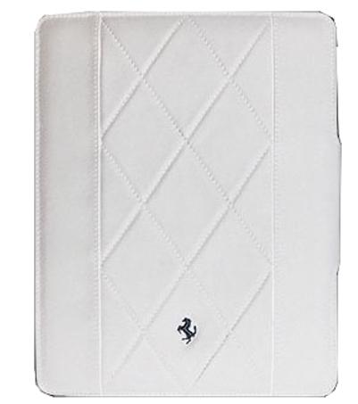 Чехол-книжка кожаный Ferrari Montecarlo White  для iPad 2,3 (белый)
