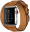 Apple Watch Series 3 Hermès Cellular 38мм, корпус из нержавеющей стали, ремешок Hermès Double Tour из кожи Barenia цвета Fauve (MQLJ2)