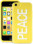 Клип-кейс PURO NightGlow PEACE для iPhone 5C желтый